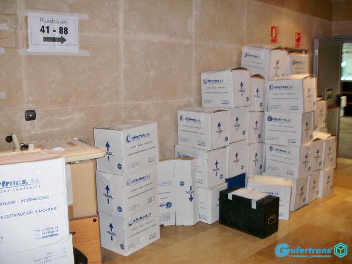 Mudanzas de oficinas en Madrid