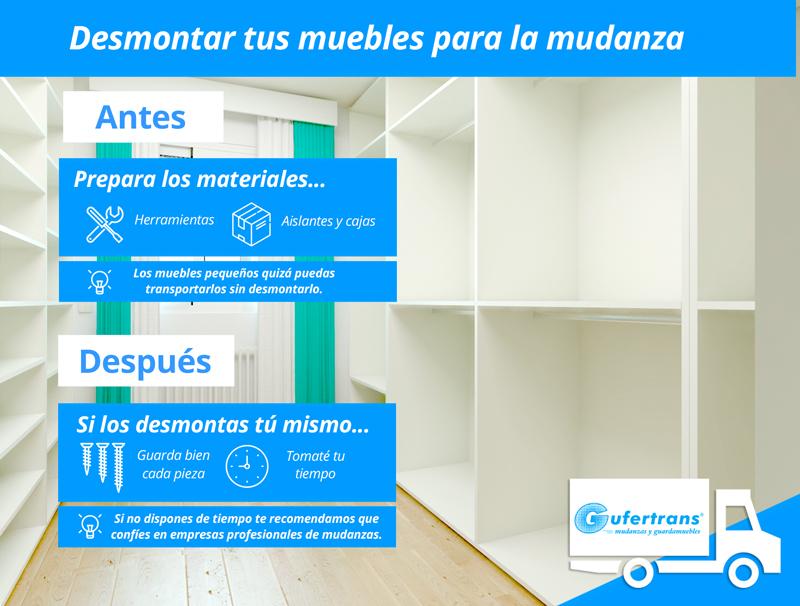 Desmontar tus muebles para la mudanza